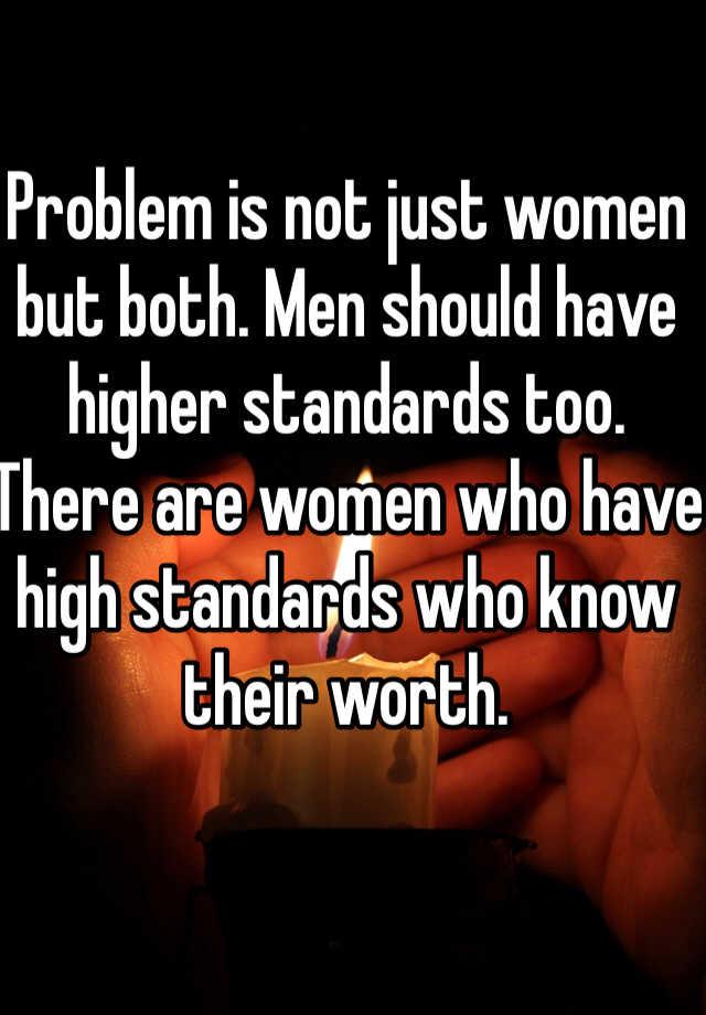With high standards women Beauty Standards
