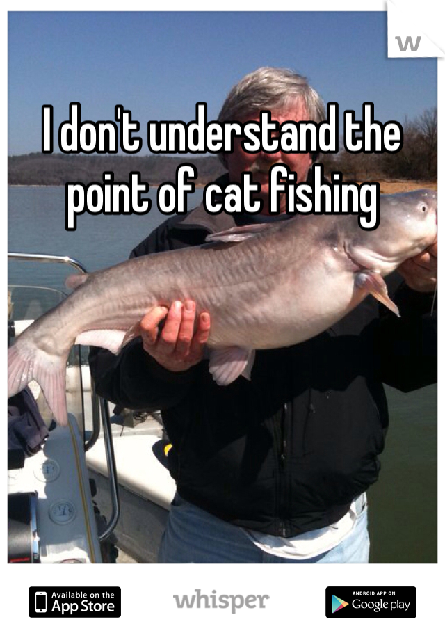 I don't understand the point of cat fishing