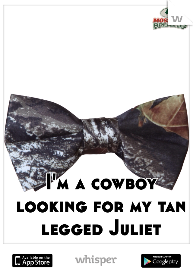 I'm a cowboy looking for my tan legged Juliet