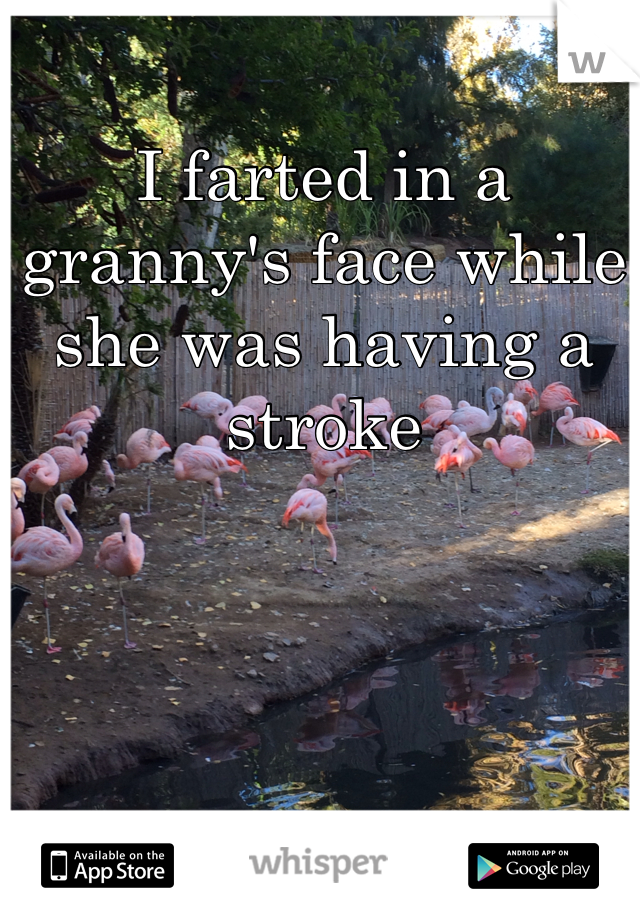 I farted in a granny's face while she was having a stroke