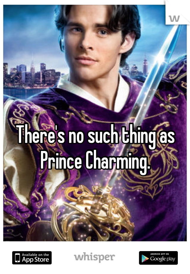 There's no such thing as Prince Charming.