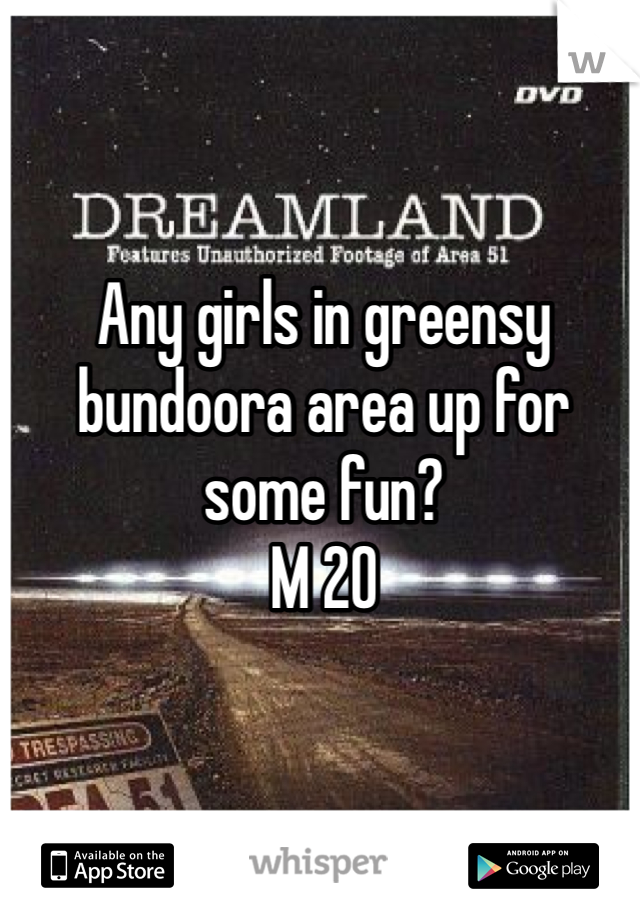 Any girls in greensy bundoora area up for some fun?  M 20