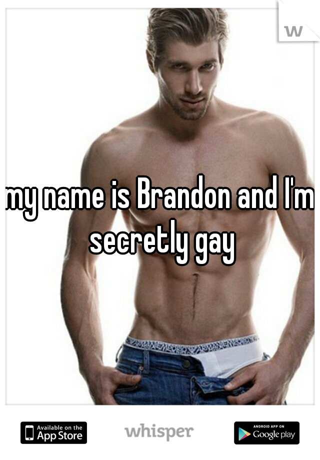 my name is Brandon and I'm secretly gay