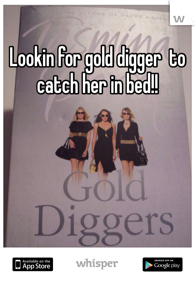 Lookin for gold digger  to catch her in bed!!