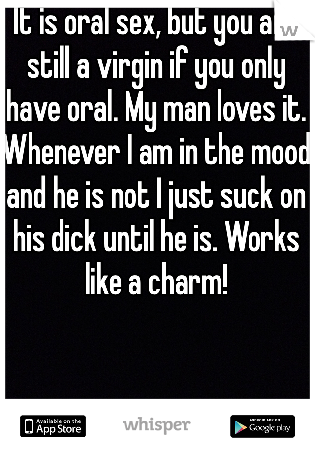 Only the best oral sex