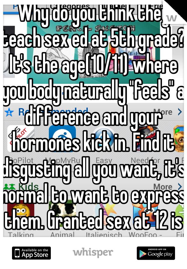5th grade sex