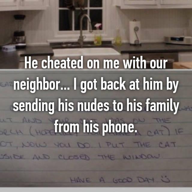 Revenge for a cheater