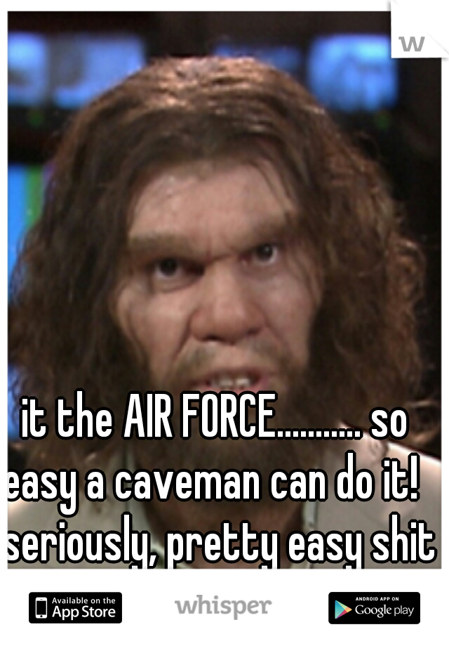 It The Air Force So Easy A Caveman Can Do It Seriously