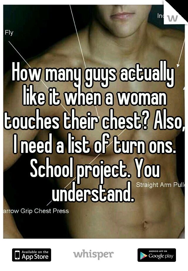 when a woman touches you