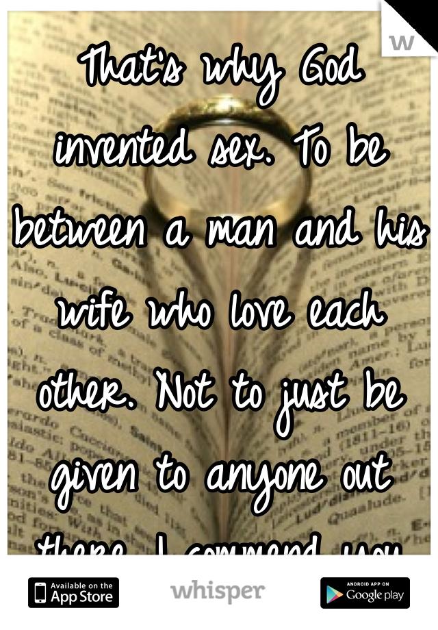 God invented sex