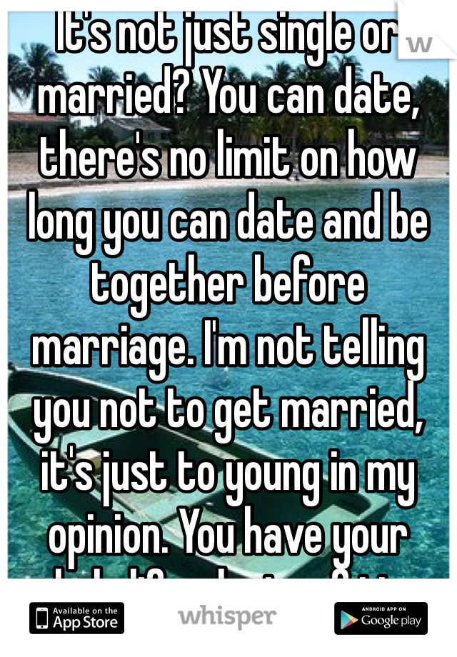 Its not just single or married you can date theres no limit on its not just single or married you can date theres no limit on how ccuart Choice Image