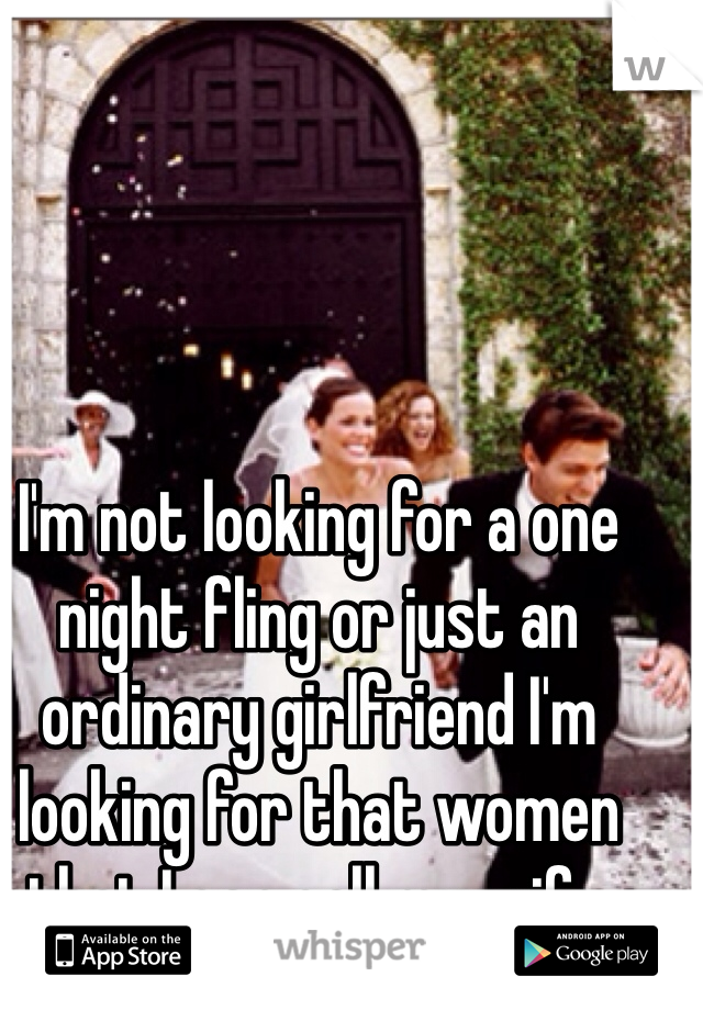 One night fling