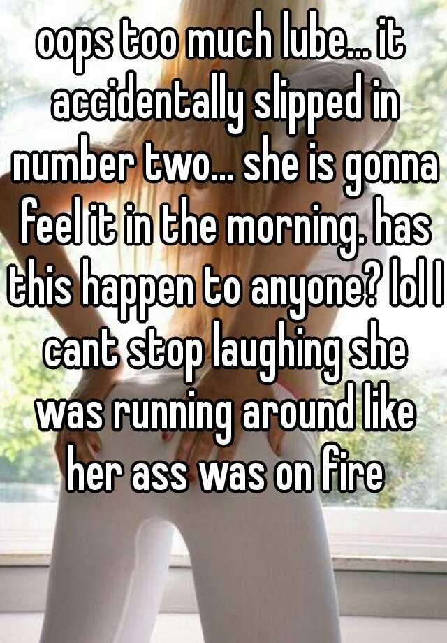 on fire ass her