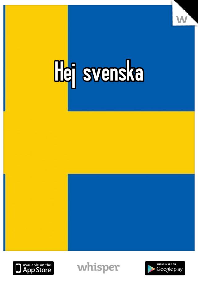hej på svensk