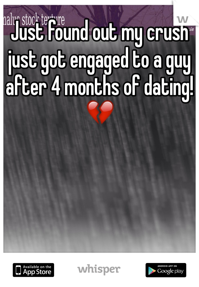 Engaged after 4 months of dating
