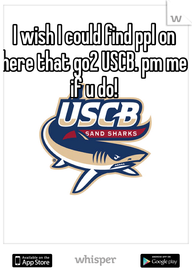 I wish I could find ppl on here that go2 USCB. pm me if u do!
