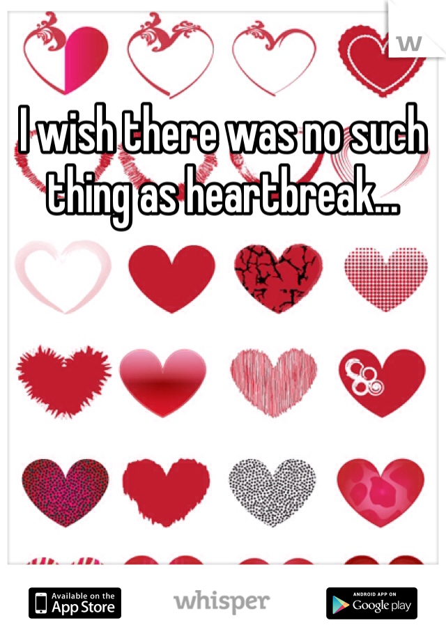 I wish there was no such thing as heartbreak...
