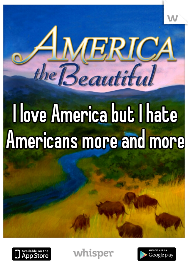 I love America but I hate Americans more and more
