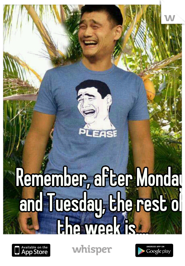 Remember, after Monday and Tuesday, the rest of the week is.... WTF!!!!!!!
