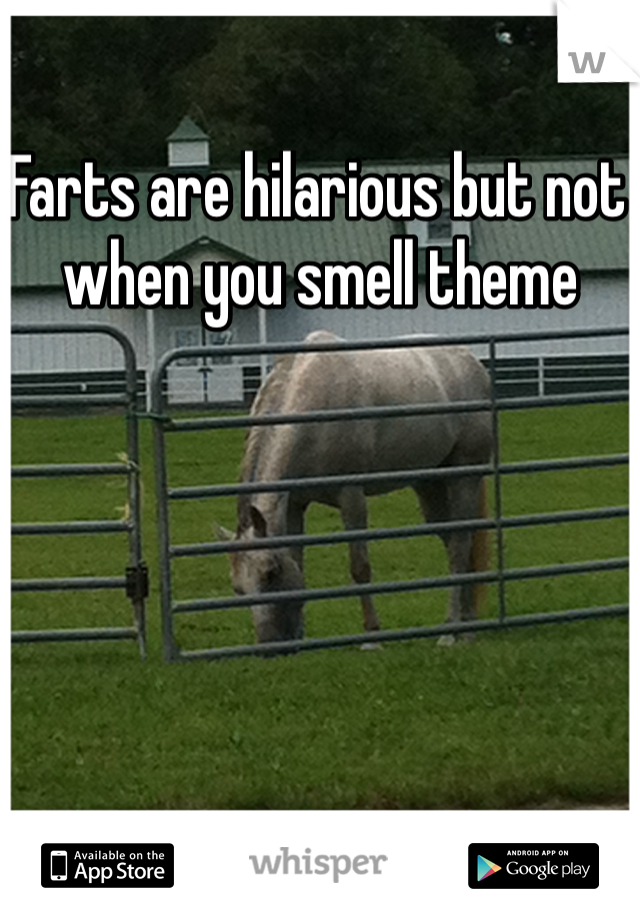 Farts are hilarious but not when you smell theme