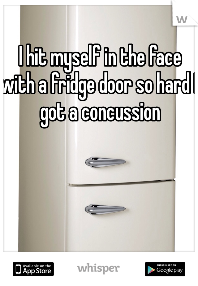 I hit myself in the face with a fridge door so hard I got a concussion
