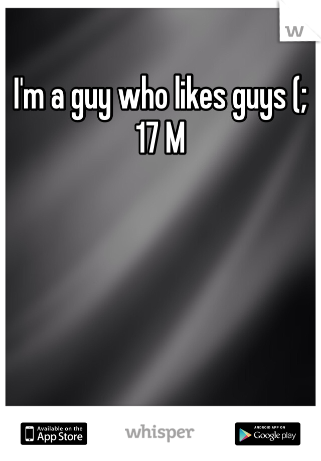 I'm a guy who likes guys (; 17 M