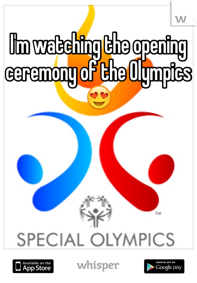 I'm watching the opening ceremony of the Olympics 😍