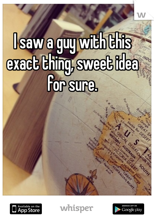 I saw a guy with this exact thing, sweet idea for sure.