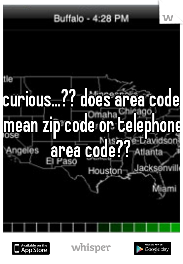 curious   ?? does area code mean zip code or telephone area
