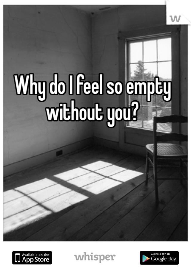 Why do I feel so empty without you?