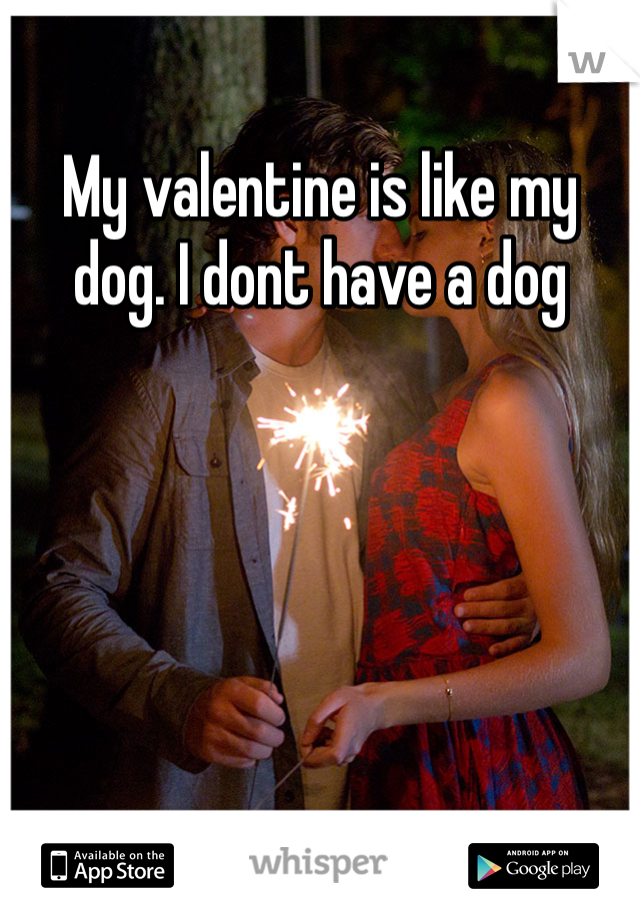 My valentine is like my dog. I dont have a dog
