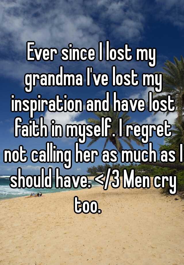 how i lost my grandma