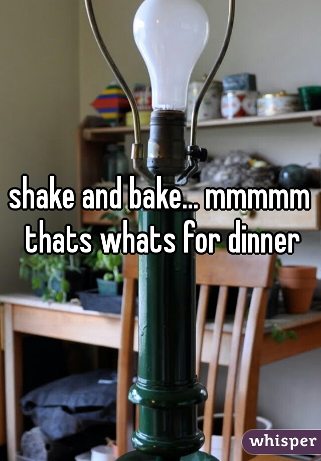 shake and bake... mmmmm thats whats for dinner