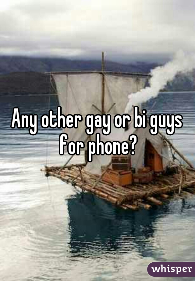 Any other gay or bi guys for phone?