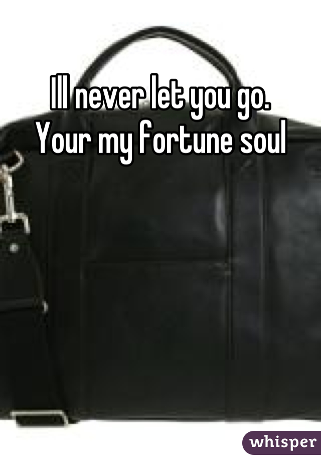 Ill never let you go.  Your my fortune soul