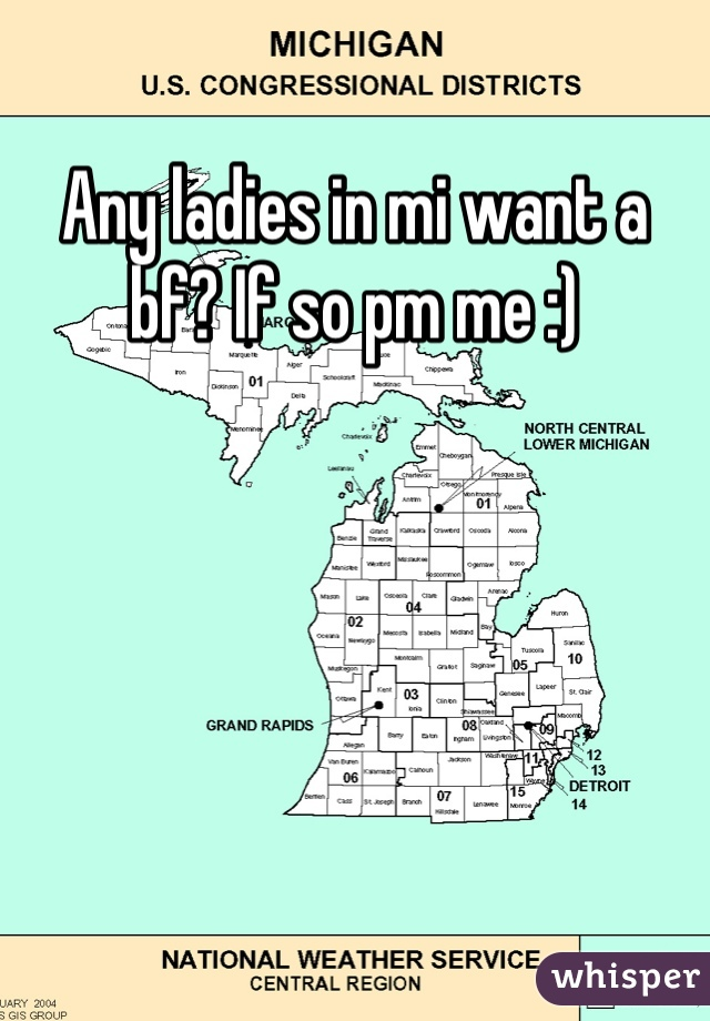 Any ladies in mi want a bf? If so pm me :)