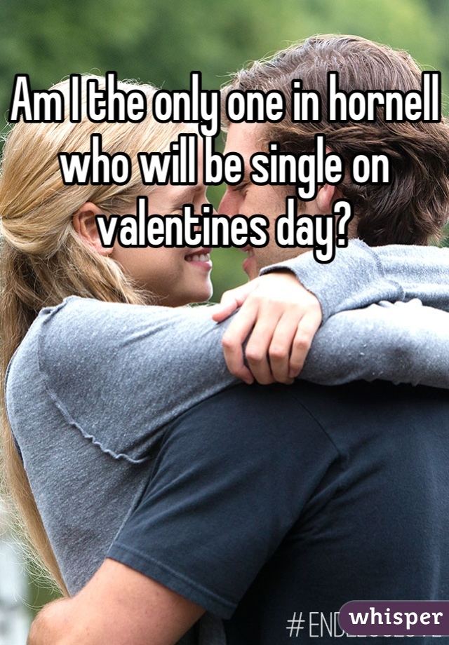 Am I the only one in hornell who will be single on valentines day?