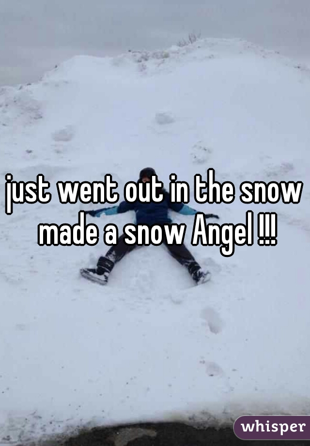 just went out in the snow made a snow Angel !!!