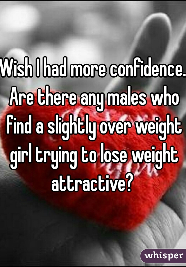 Wish I had more confidence. Are there any males who find a slightly over weight girl trying to lose weight attractive?