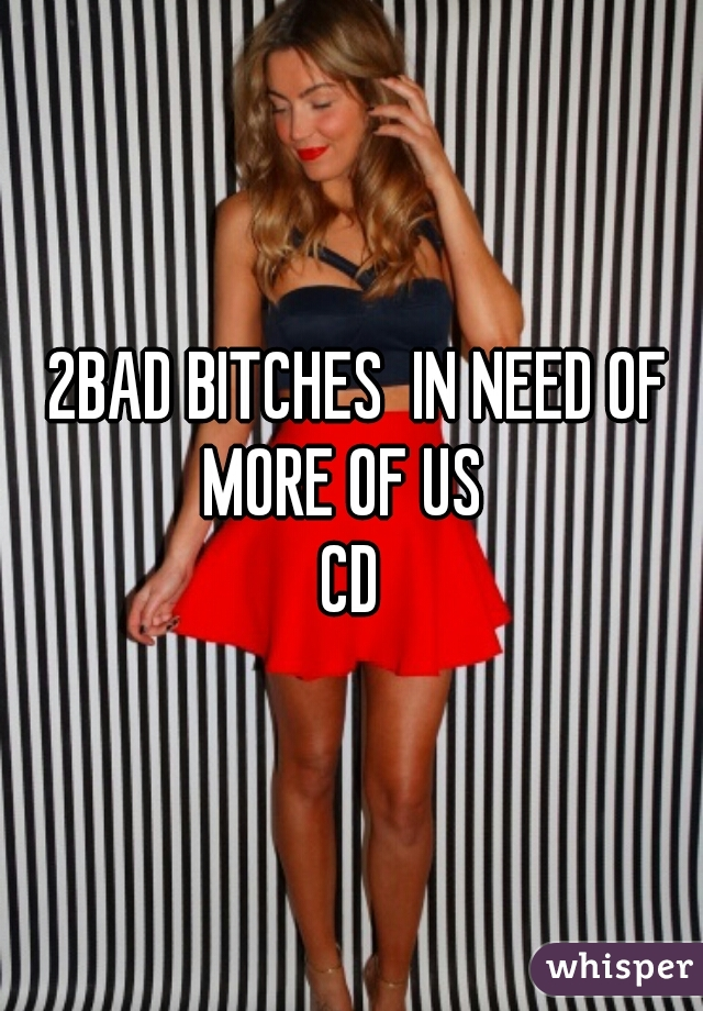 2BAD BITCHES  IN NEED OF MORE OF US    CD
