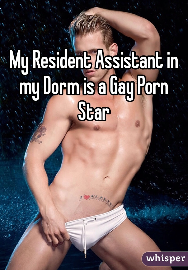 My Resident Assistant in my Dorm is a Gay Porn Star