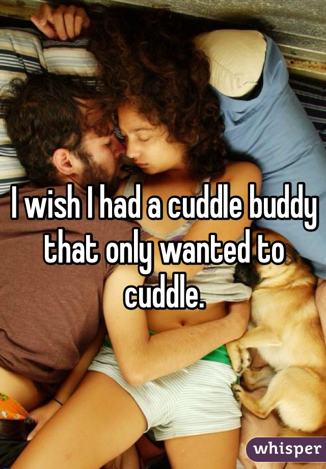 I wish I had a cuddle buddy that only wanted to cuddle.