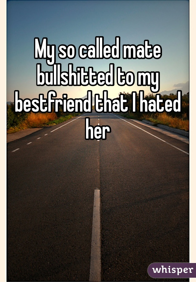 My so called mate bullshitted to my bestfriend that I hated her