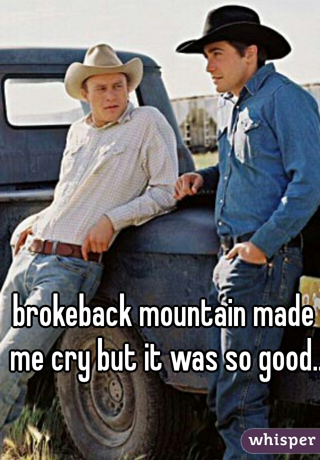 brokeback mountain made me cry but it was so good...