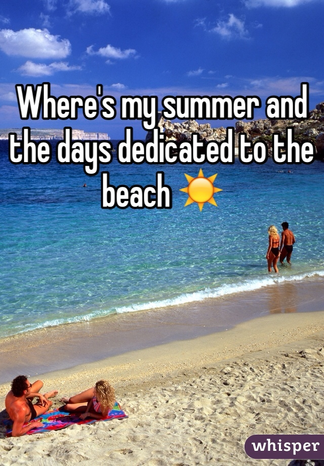 Where's my summer and the days dedicated to the beach ☀️