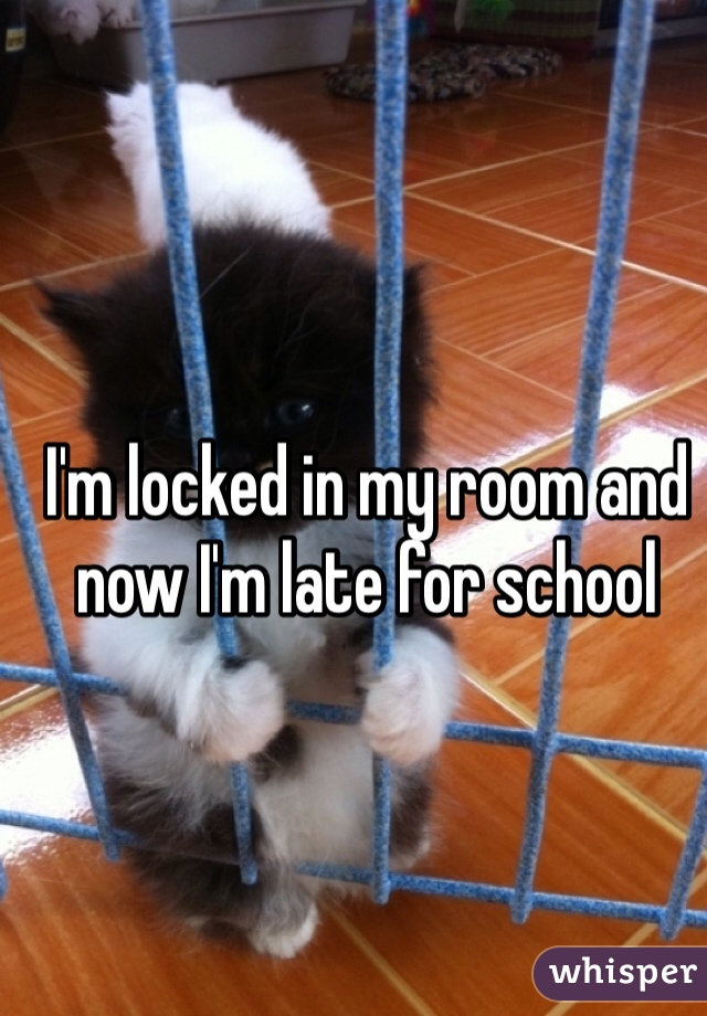 I'm locked in my room and now I'm late for school