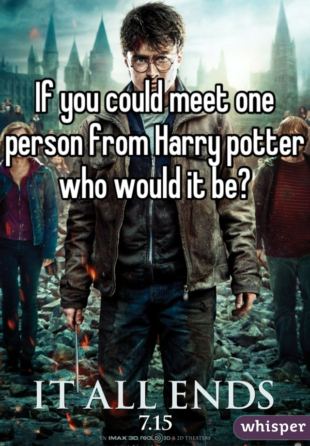 If you could meet one person from Harry potter who would it be?