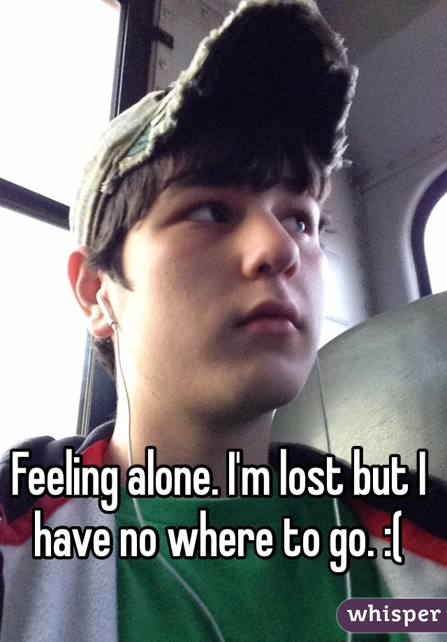 Feeling alone. I'm lost but I have no where to go. :(