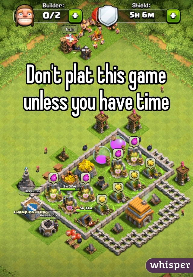Don't plat this game unless you have time