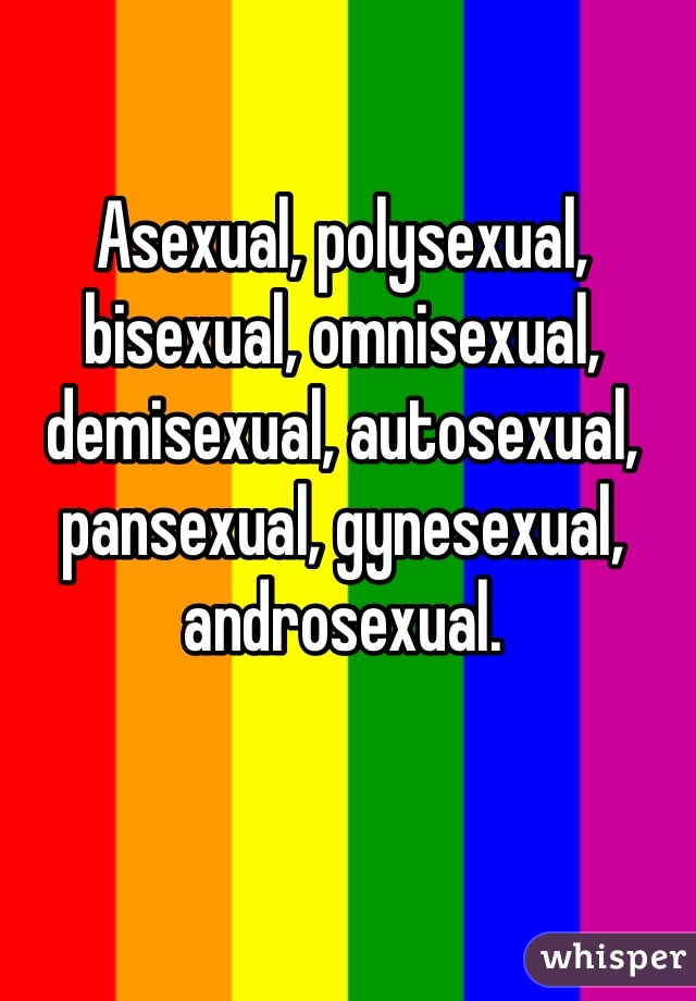 demisexual asexual pansexual